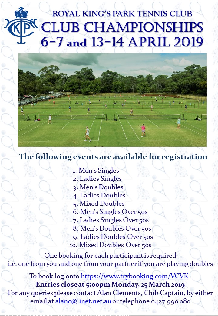 Club championships Flyer